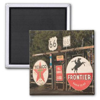 USA, Arizona, Sedona: Antique Advertising Signs Square Magnet