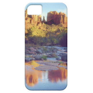 USA, Arizona, Sedona. Cathedral Rock reflecting iPhone 5 Case
