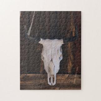 USA, Arizona. Skull On A Shop Wall Puzzle