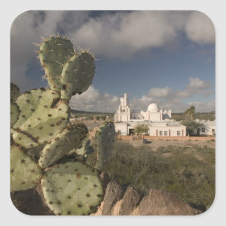 USA, Arizona, Tucson: Mission San Xavier del Bac 2 Square Sticker