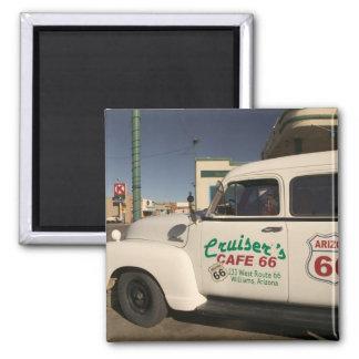 USA, Arizona, Williams: Cruisers Cafe 66 Old Square Magnet