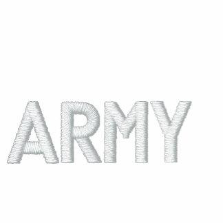 USA ARMY BASIC ZIP HOODIE-RedWhite&Blue Embroidered Hoodies