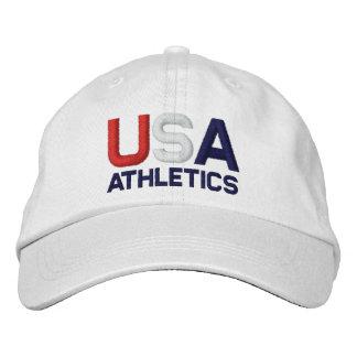 USA Athletics Olympics Embroidered White Hat Baseball Cap