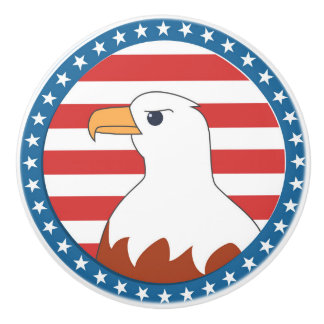 USA bald eagle Ceramic Knob