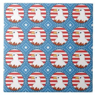 USA bald eagle pattern Tile