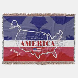 USA Bald Eagle Throw Blanket
