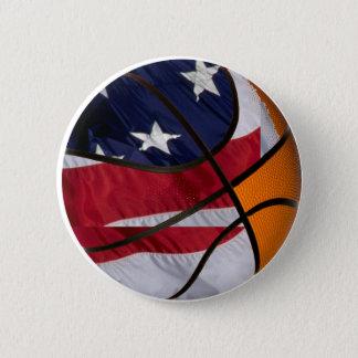 USA Basket Ball 2 Inch Round Button