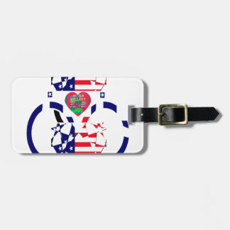USA Beautiful Amazing Text Lovely Heart colors Art Bag Tag