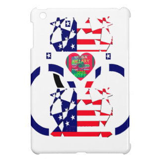 USA Beautiful Amazing Text Lovely Heart colors Art iPad Mini Cover