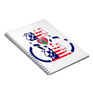 USA Beautiful Amazing Text Lovely Heart colors Art Spiral Note Book