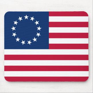 usa betsy flag mouse pad