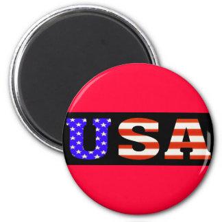 USA Blk 11x3 Magnet
