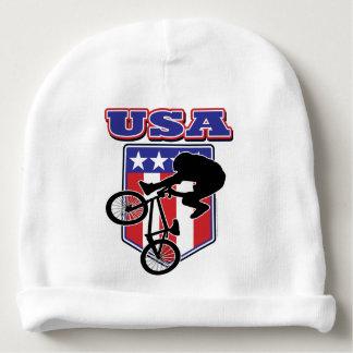 USA-BMX Biker Baby Beanie