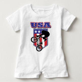USA-BMX Biker Baby Romper