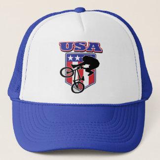 USA-BMX Biker Trucker Hat