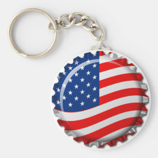 USA Bottle Cap Keychain