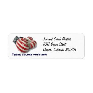 USA Boxing Gloves Return Address Label