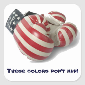 USA Boxing Gloves Square Sticker