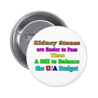 USA Budget 2011 2 Inch Round Button