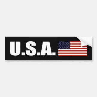 USA Bumper Sticker Dark