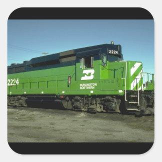 USA, Burlington Northern_Trains of the World Square Sticker