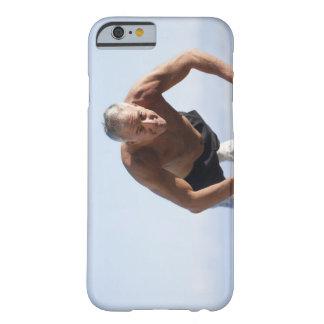 USA, California, Berkeley, Senior man exercising Barely There iPhone 6 Case