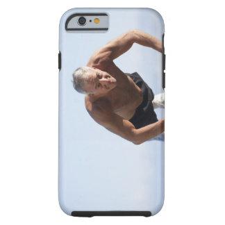USA, California, Berkeley, Senior man exercising Tough iPhone 6 Case
