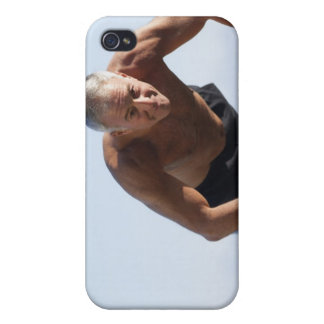 USA, California, Berkeley, Senior man exercising iPhone 4/4S Covers