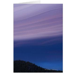 USA, California, Lake Tahoe, Landscape with Card