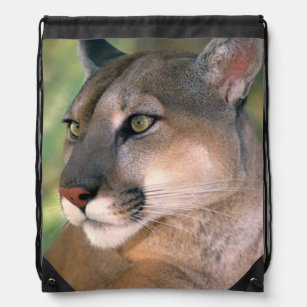 USA, California, Los Angeles County. Portrait of Drawstring Bag