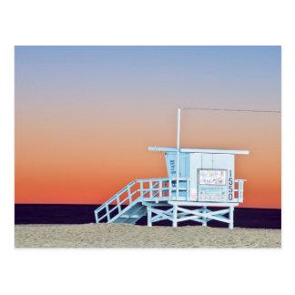 USA, California, Los Angeles, Santa Monica Beach Postcard