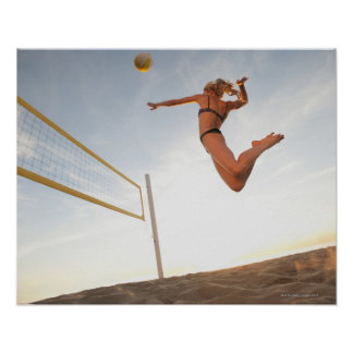 USA, California, Los Angeles, woman playing 2 Poster