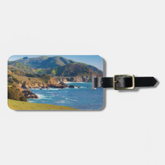 USA, California. Panorama Of Big Sur With Bixby Luggage Tag