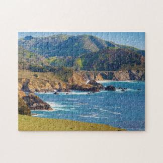 USA, California. Panorama Of Big Sur With Bixby Puzzles