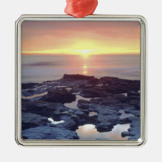 USA, California, San Diego. Sunset Cliffs tide Metal Ornament