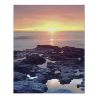 USA, California, San Diego. Sunset Cliffs tide Poster