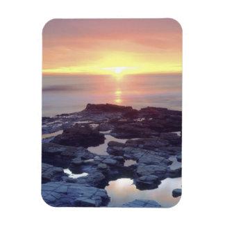 USA, California, San Diego. Sunset Cliffs tide Rectangular Photo Magnet