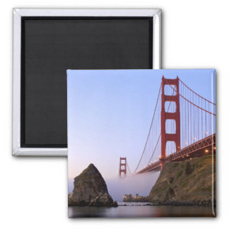 USA, California, San Francisco. Golden Gate 3 Square Magnet