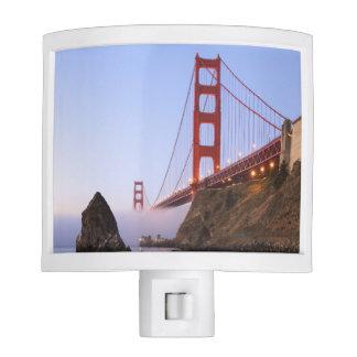 USA, California, San Francisco. Golden Gate Night Light