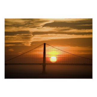 USA. California. San Francisco. Sun setting Poster