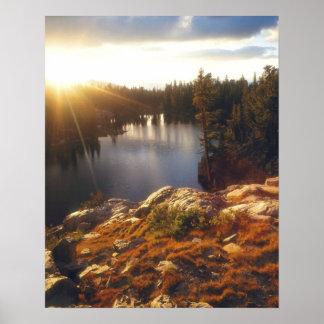 USA, California, Sierra Nevada Mountains. Sunset Poster