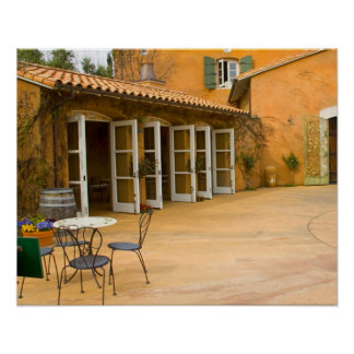 USA, California, Sonoma Valley, Patio at Viansa Poster