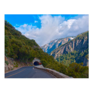 USA, California. Tunnel On The Road To Yosemite Postcard