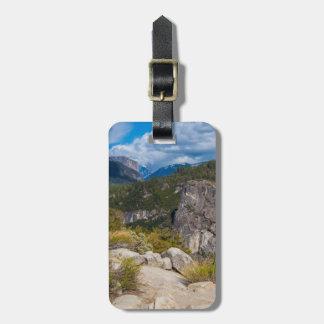 USA, California. Yosemite Valley Vista 2 Bag Tag