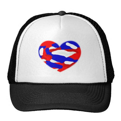 USA Camo Heart Mesh Hat
