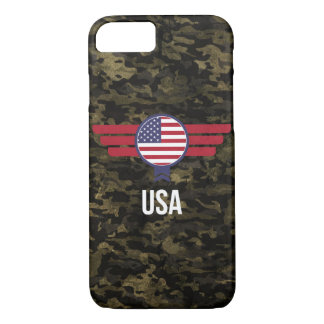USA Camouflage Military Phone Case Cover