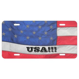 USA!!! Car TAG License Plate
