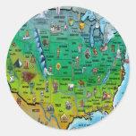 USA Cartoon Map Sticker