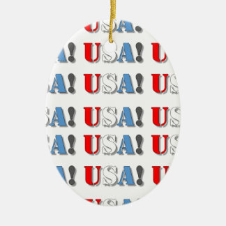 USA! CERAMIC OVAL ORNAMENT