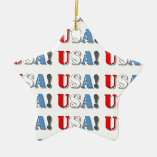 USA! CERAMIC STAR ORNAMENT